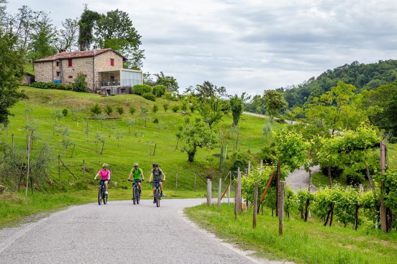 E-Bike-Tour in der Hügellandschaft der UNESCO