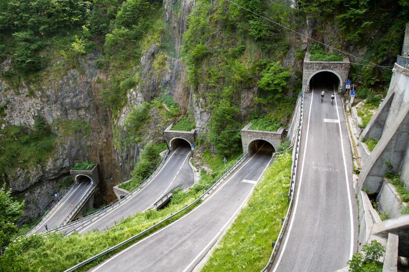 Aufstieg San Boldo, Nevegal und See Santa Croce