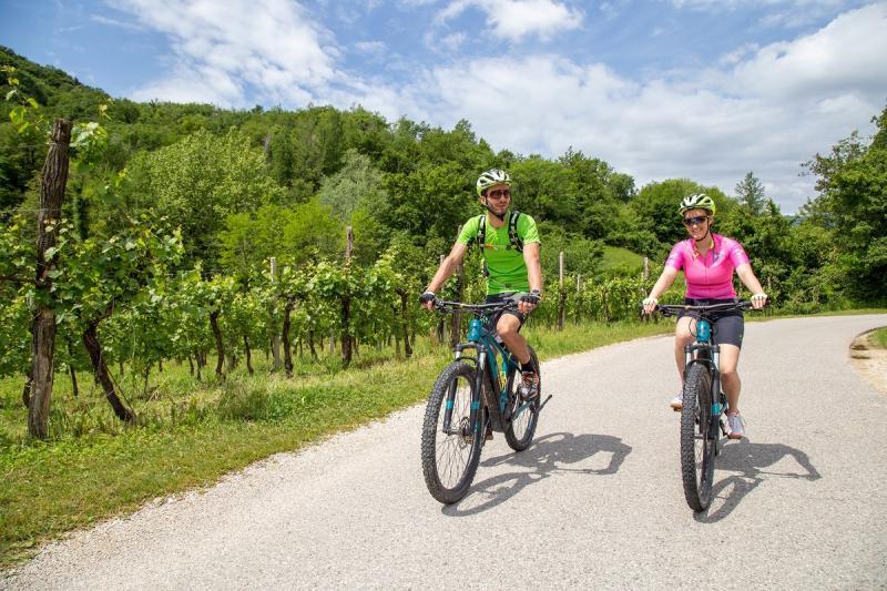 E-MTB-Tour in den Hügeln von Vittorio Veneto