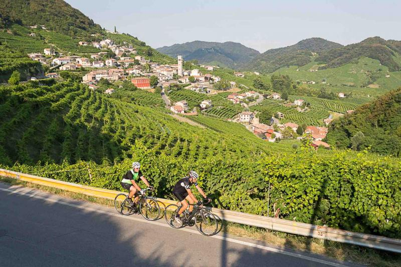 Riding road and mountain bikes  in the Prosecco Hills!
